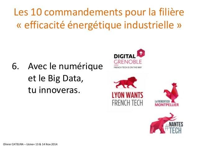 Les 10 commandements pour la filière «efficacité énergétique industrielle»  6.Avec le numérique et le BigData, tu innovera...