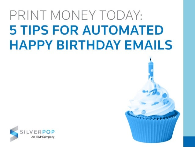 5 Tips For Automated Happy Birthday Emails