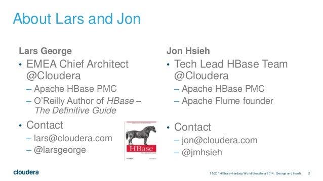Apache HBase Application Archetypes Slide 2