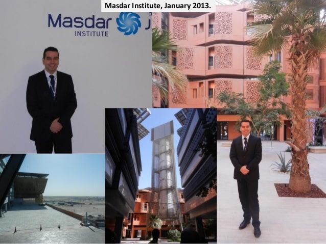 MasdarInstitute, January2013.