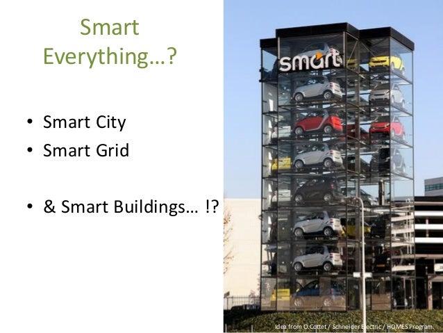 IdeafromO.Cottet/ Schneider Electric / HOMES Program.  Smart Everything…?  •Smart City  •Smart Grid  •& Smart Buildings… !?