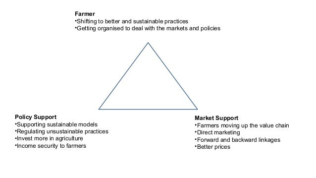 Farmer  •Shifting to better and sustainable practices  •Getting organised to deal with the markets and policies  Policy Su...