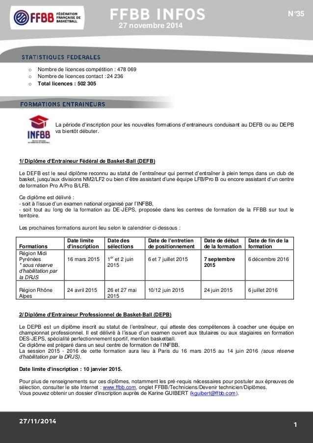 1/Résultats des Equipes de France :  o Nombre de licences compétition : 478 069  o Nombre de licences contact : 24 236  o ...