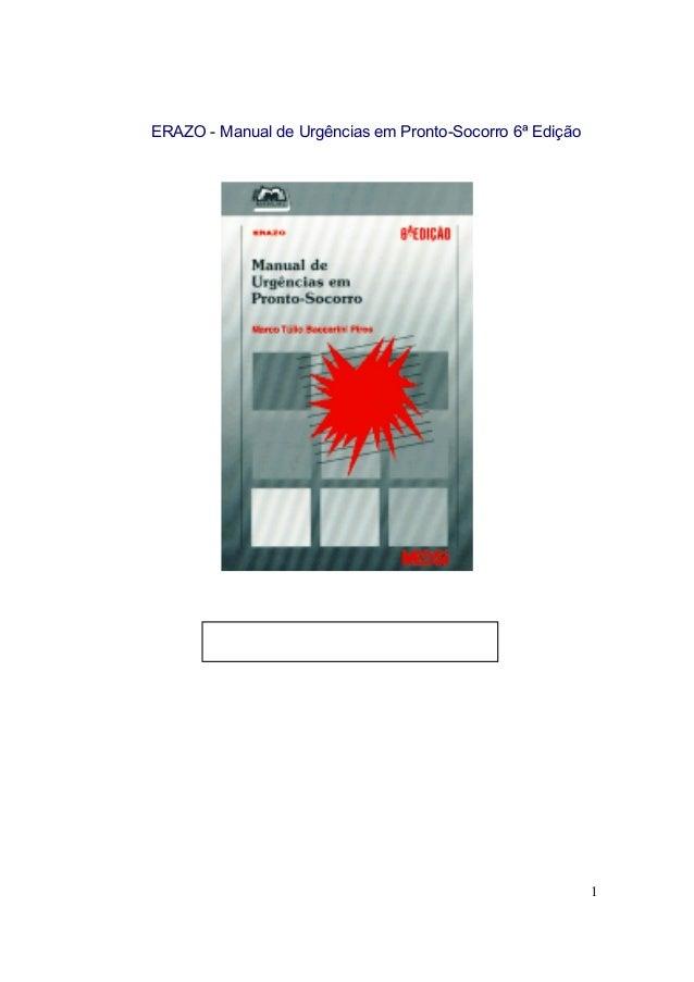 ERAZO - Manual de Urgências em Pronto-Socorro 6ª Edição  1