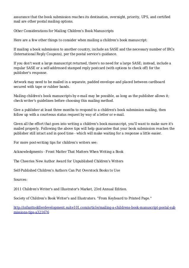 childrens book manuscript pdf