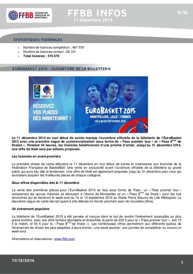 11/12/2014 1 1/Résultats des Equipes de France : o Nombre de licences compétition : 487 578 o Nombre de licences contact :...