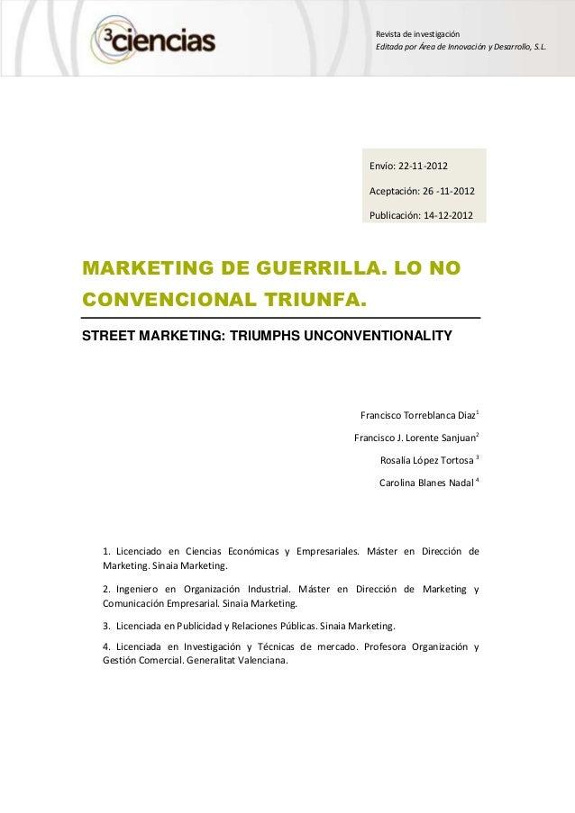 Revista de investigación                                                                 Editada por Área de Innovación y ...