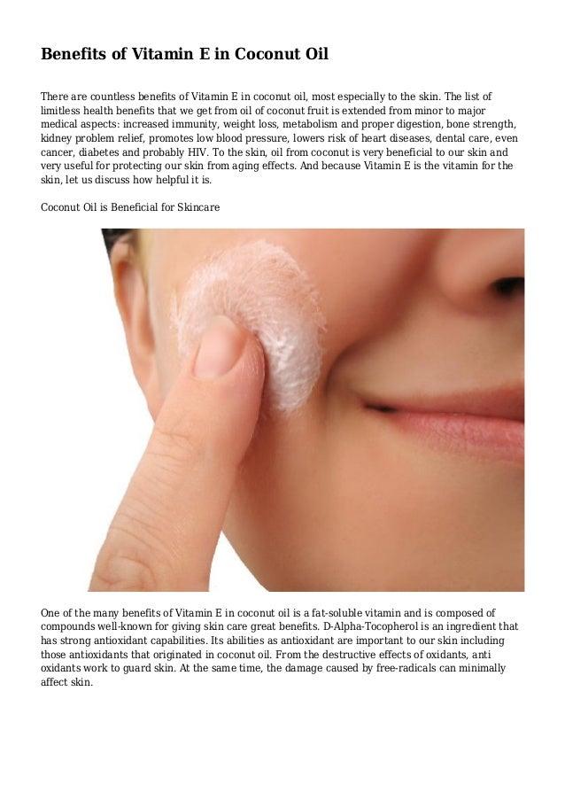 Vitamin e for the face benefits
