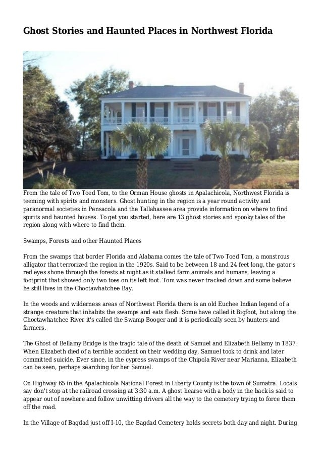 Ghost Stories and Haunted Places in Northwest Florida