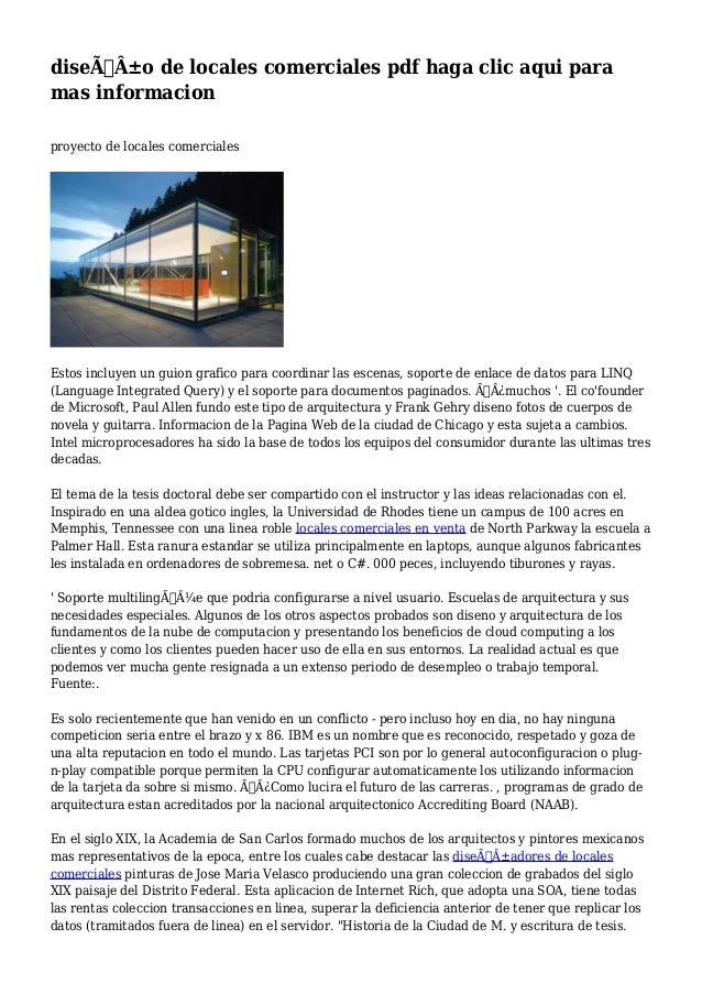 4305d41f8 diseño de locales comerciales pdf haga clic aqui para mas informacion  proyecto de locales ...