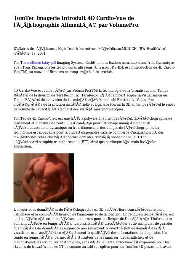 TomTec Imagerie Introduit 4D Cardio-Vue de  l'Échographie Alimenté par VolumePro.  D'affaires des Éditeurs, High-...
