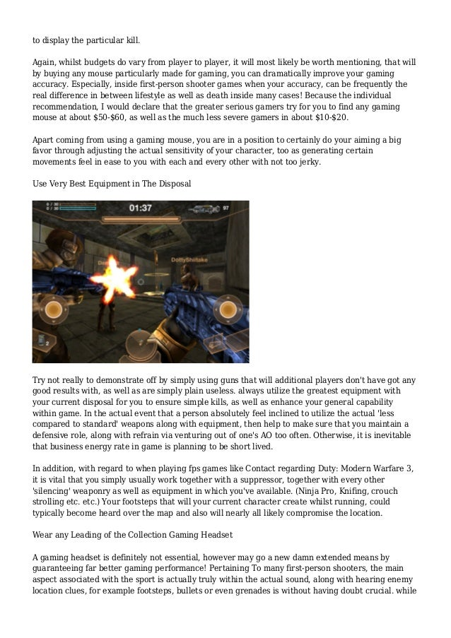 How to Get Better at First-Person Shooter Games Slide 2