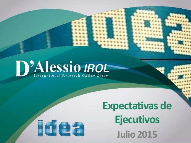 'D Expectativas de Ejecutivos Julio20151