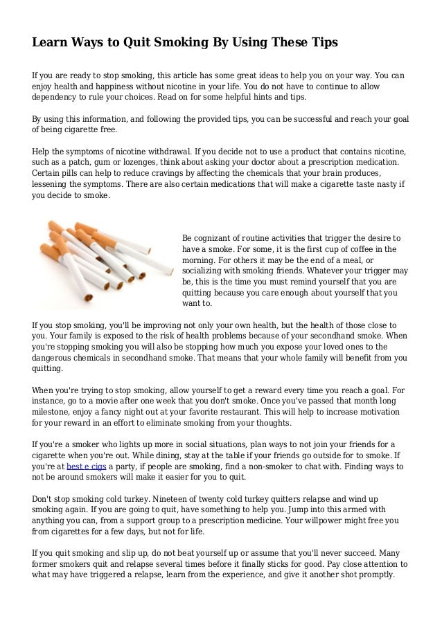 Is Quitting Smoking Cold Turkey Dangerous