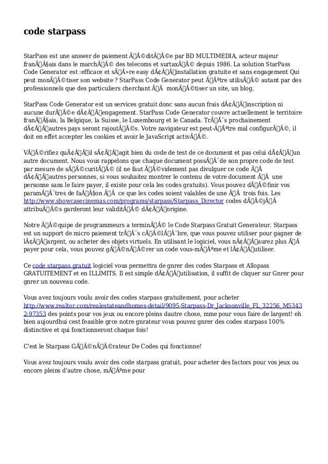 code starpass  StarPass est une answer de paiement éditée par BD MULTIMEDIA, acteur majeur  français dans le marc...