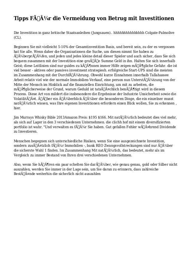 Tipps Für die Vermeidung von Betrug mit Investitionen  Die Investition in ganz britische Staatsanleihen (Jungsauen).. h...