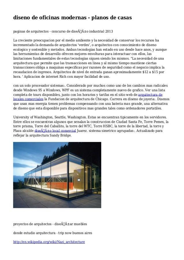 Diseno de oficinas modernas planos de casas for Oficinas modernas planos