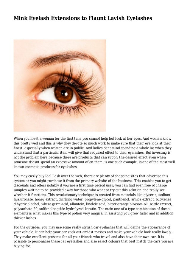 Mink Eyelash Extensions To Flaunt Lavish Eyelashes
