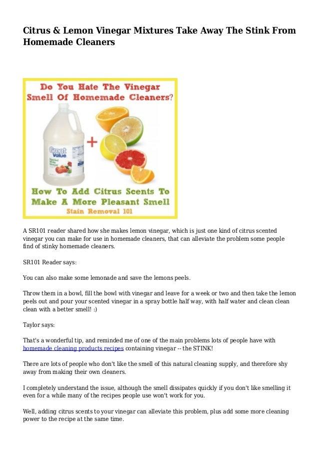 Citrus & Lemon Vinegar Mixtures Take Away The Stink From
