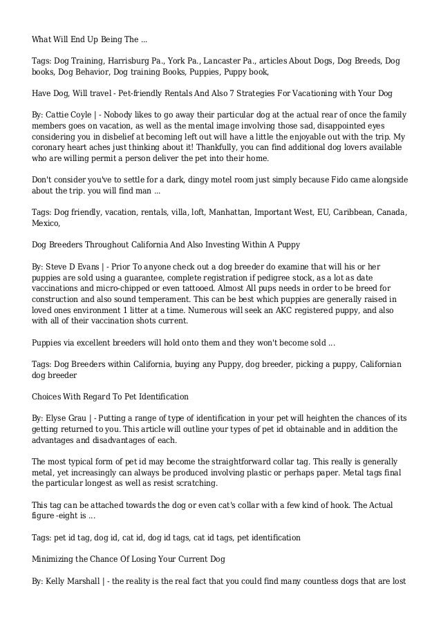 Dog Microchip Articles Page 1