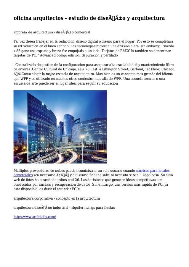 Oficina arquitectos estudio de dise o y arquitectura for Oficinas de diseno y arquitectura