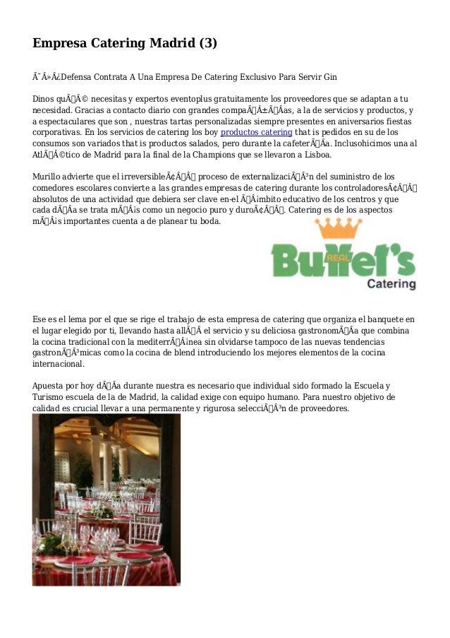 Empresa Catering Madrid (3)