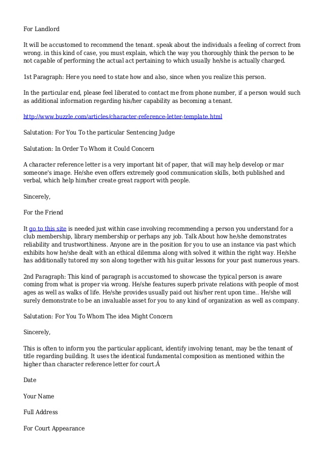Personal Reference Letter For Housing from image.slidesharecdn.com
