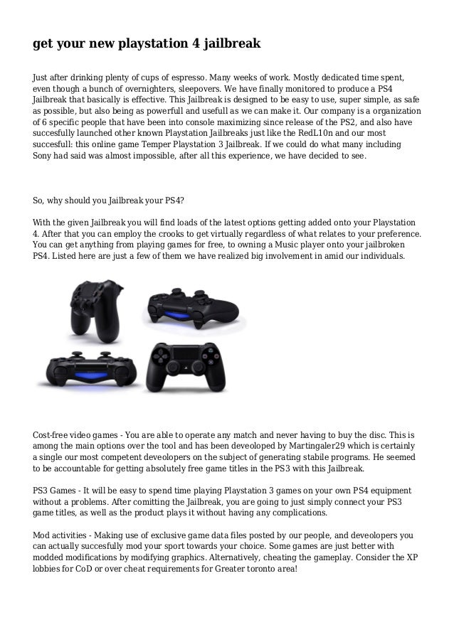 get your new playstation 4 jailbreak  Just after drinking plenty of cups of espresso. Many weeks of work. Mostly dedicated...
