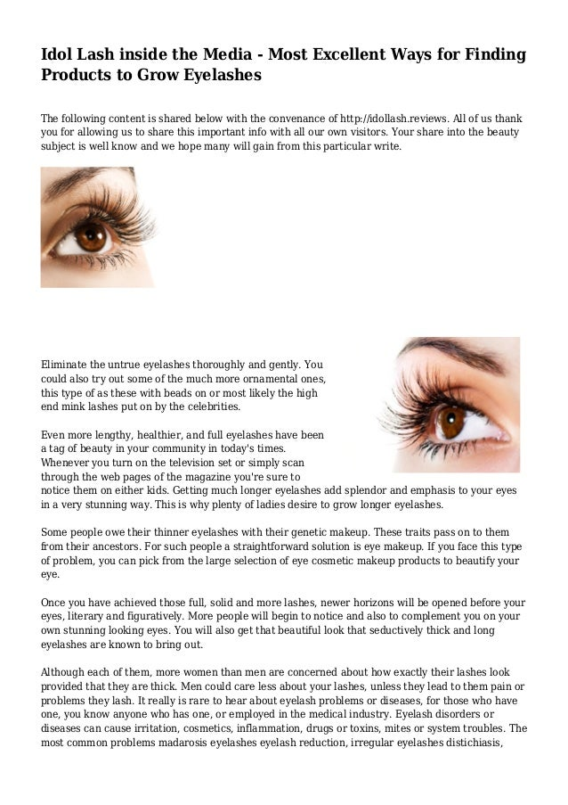 Idol Lash Inside The Media Most Excellent Ways For Finding Products