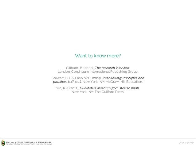 Arranging Interview Questions in a Logical Sequence