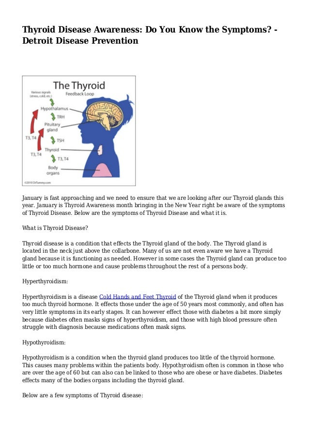 Thyroid Disease Awareness Do You Know The Symptoms Detroit Diseas