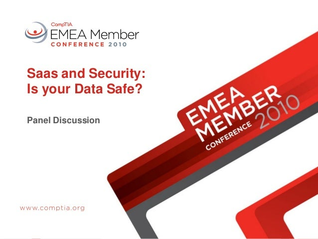 Saas and Security: Is your Data Safe? Panel Discussion