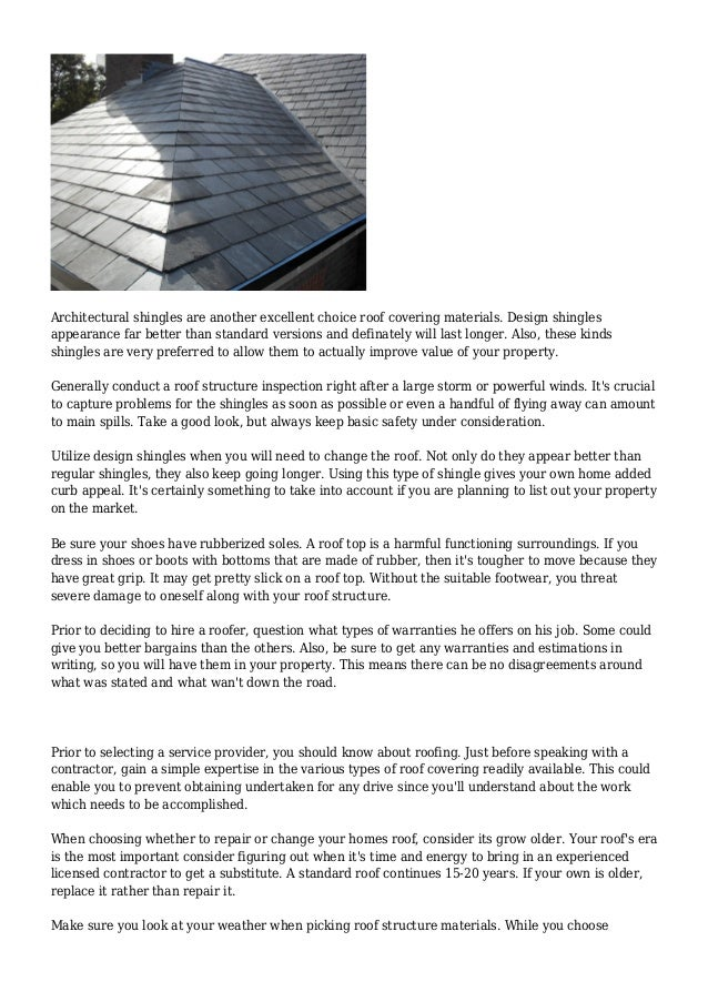 Handling Your Residential Properties Roofing Check Out