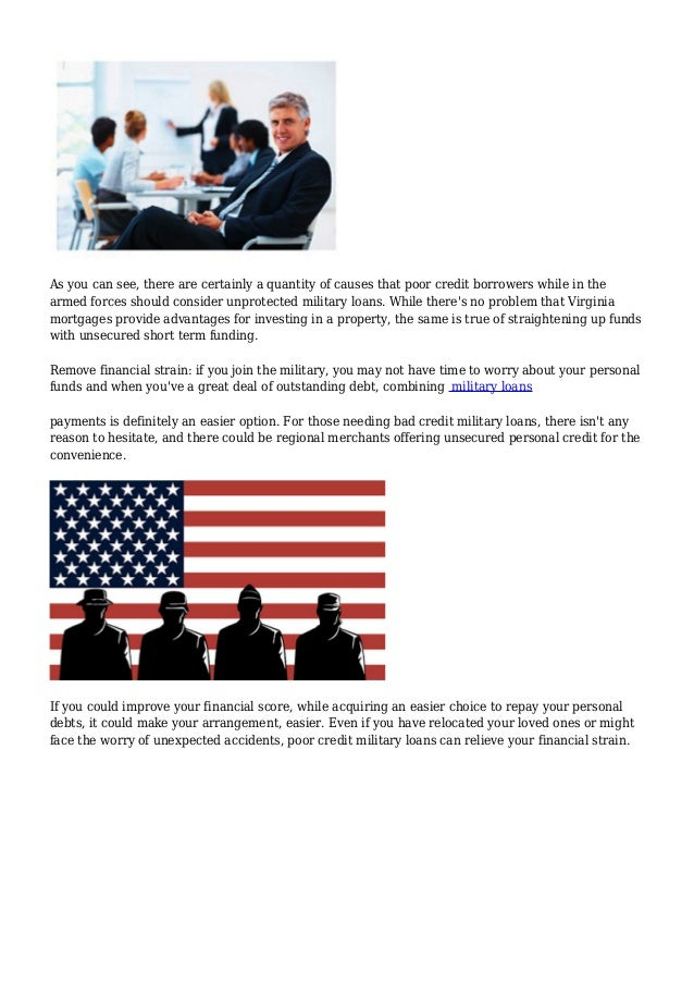 Bad Credit Military Loans >> Will There Be Bad Credit Military Loans For Private Necessities