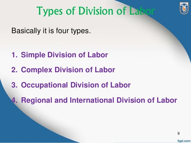 domestic division of labour essay Power relationships are about who controls the family and who has the power to make the decisions the domestic division of labour is the changing nature.