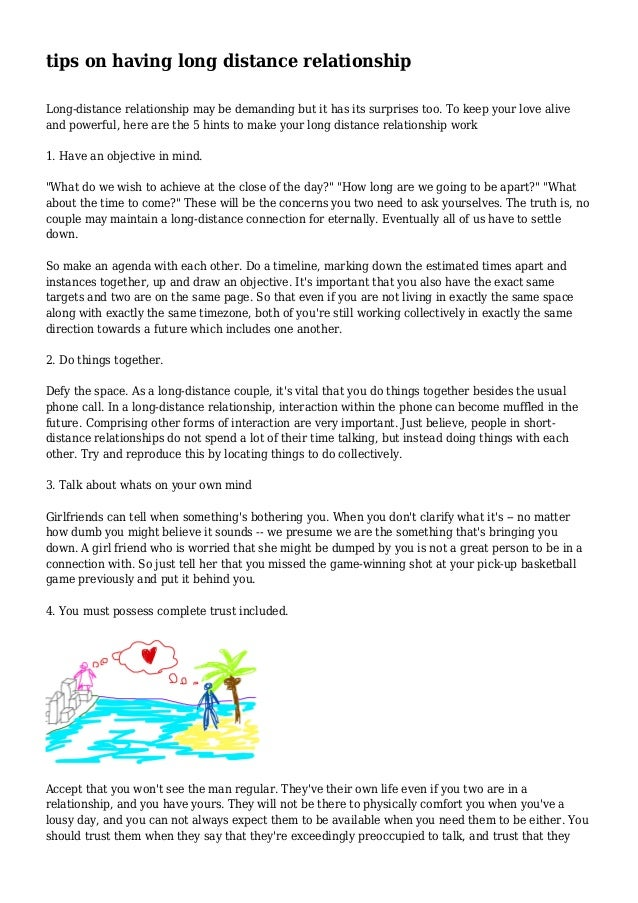 tips on having long distance relationship