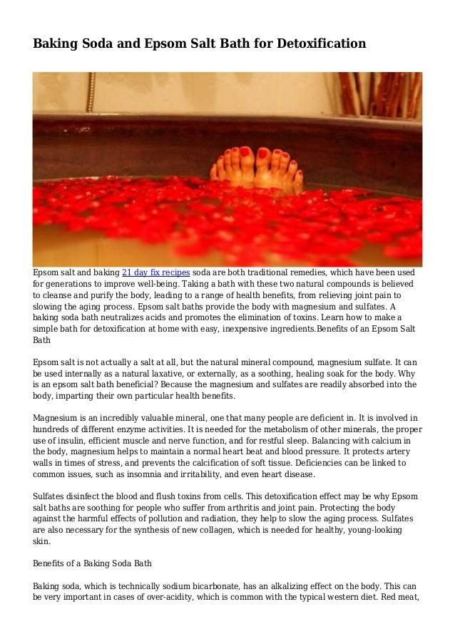 Baking Soda and Epsom Salt Bath for Detoxification