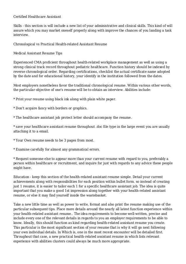 Medical Assistant Resume - Write Great Medical Assistant Resumes