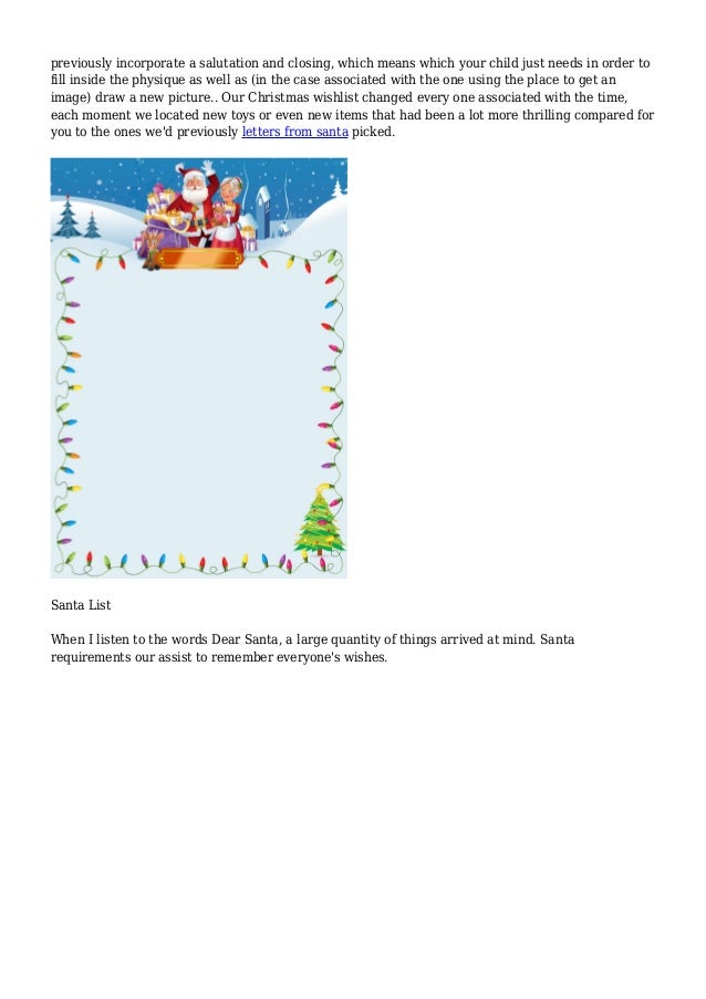 letter of character dear santa an open letter to santa claus 46250