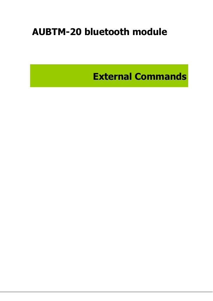 AUBTM-20 bluetooth module           External Commands