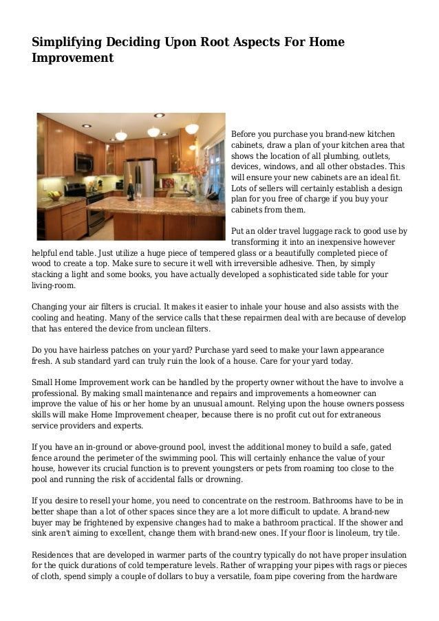 Simplifying Deciding Upon Root Aspects For Home Improvement Before You  Purchase You Brand New Kitchen ...