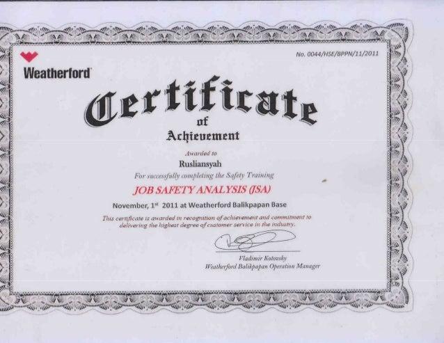jsa certificate slideshare upcoming