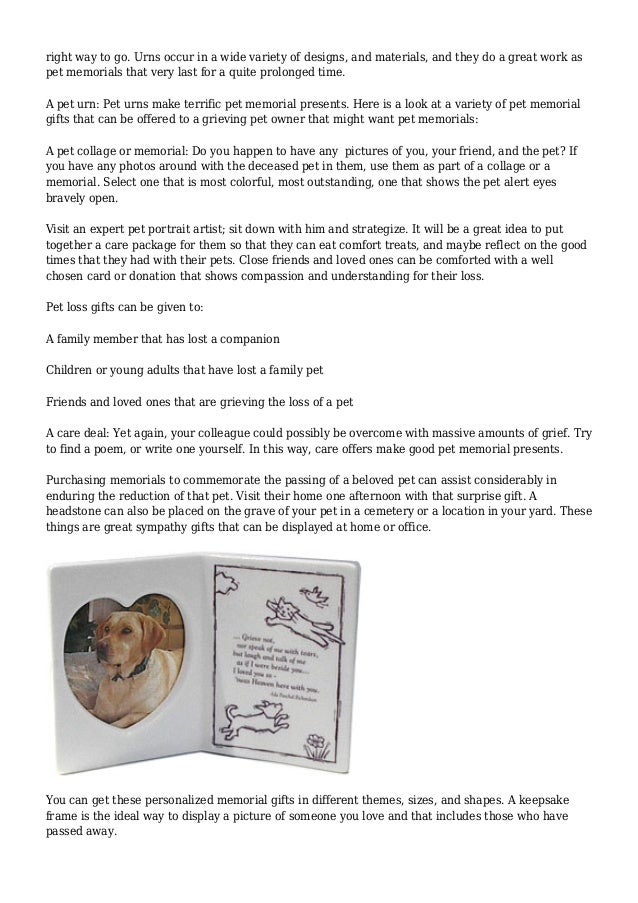 Loss of pet memorial gifts pet memorial gifts will always be the 6 solutioingenieria Images