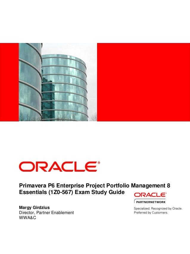 primavera p6 enterprise project portfolio management 8 essentials 1 rh slideshare net Study Guide and Strategies Study Guide