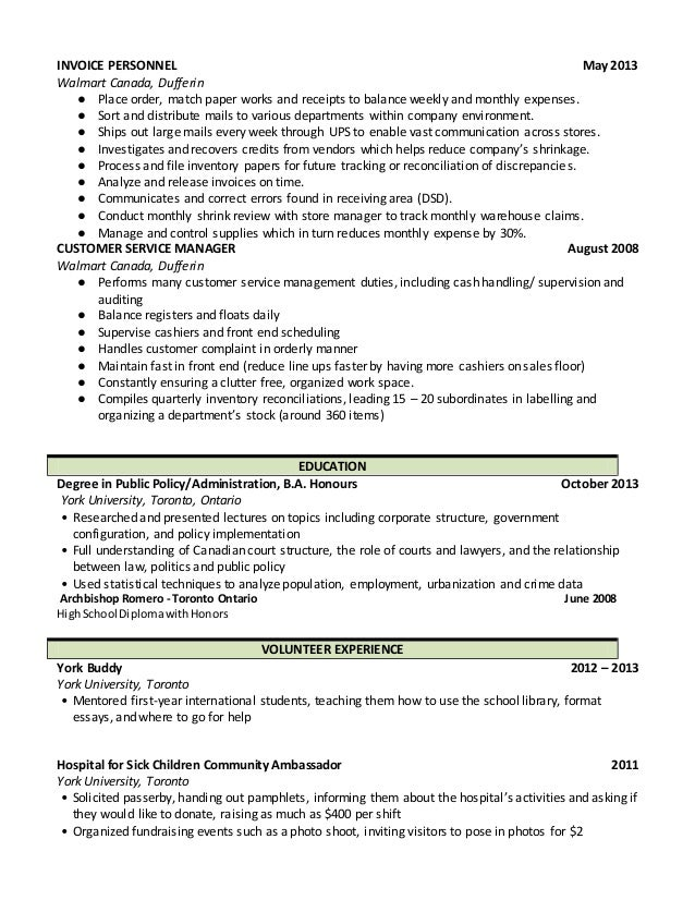 walmart department manager resume - Boat.jeremyeaton.co