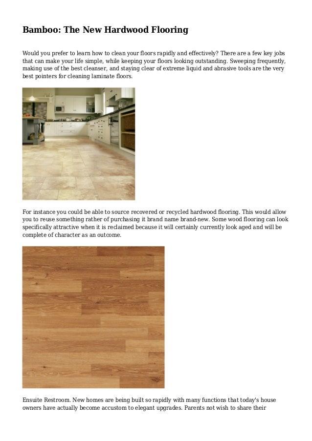 Bamboo The New Hardwood Flooring
