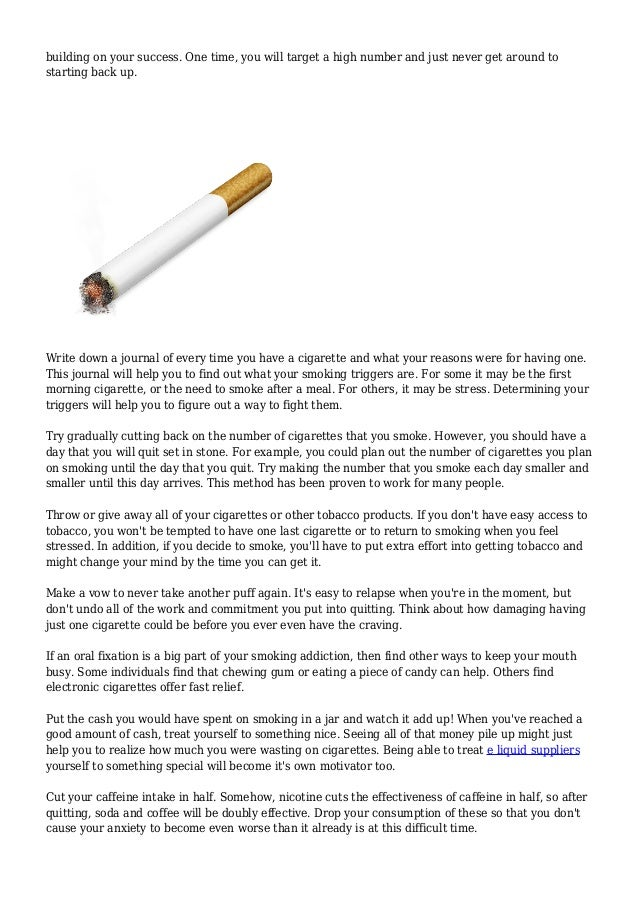 Proven Strategies That Will Assist You Stop Smoking