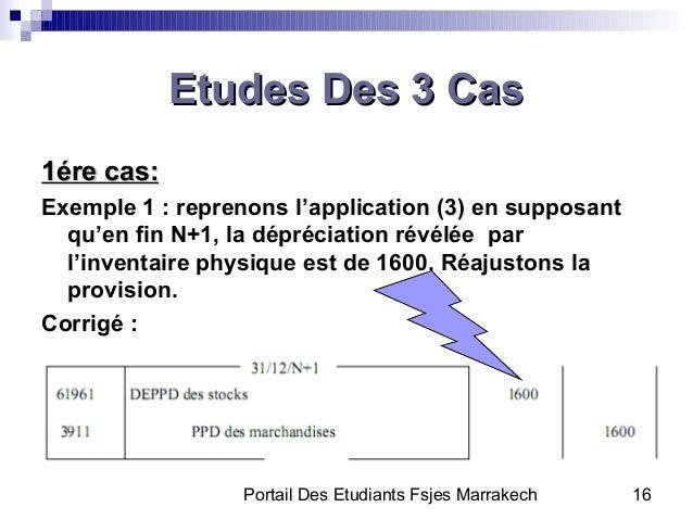 Portail Des Etudiants Fsjes Marrakech 16Etudes Des 3 CasEtudes Des 3 Cas1ére cas:1ére cas:Exemple 1 : reprenons l'applicat...