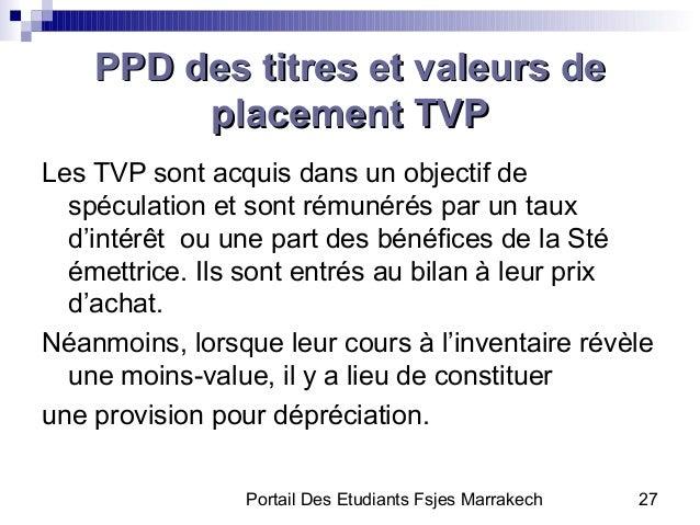 Portail Des Etudiants Fsjes Marrakech 27PPD des titres et valeurs dePPD des titres et valeurs deplacement TVPplacement TVP...