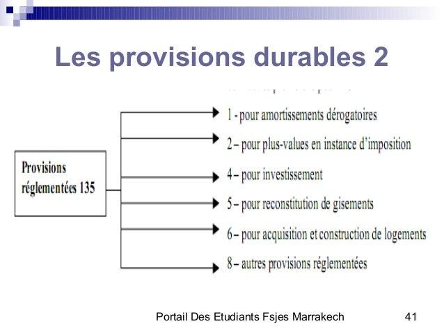 Portail Des Etudiants Fsjes Marrakech 41Les provisions durables 2